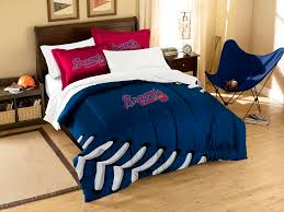 atlanta braves twin full comforter set pillows com
