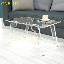 acrylic coffee table detachable acrylic coffee table collapse lucite tea table 75w 45d 40h cm white acrylic coffee table