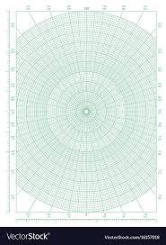Green Polar Coordinate Circular Grid Graph Paper