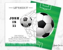 Soccer Party Invitations Soccer Birthday Invitation Soccer Invitation Soccer Party Etsy