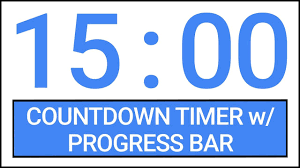 countdown timer 15 minutes 15 min countdown timer w progress bar timer countdown youtube