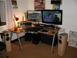 l shaped desk gaming. Perfect Desk Image Of L Shaped Gaming Desk With A