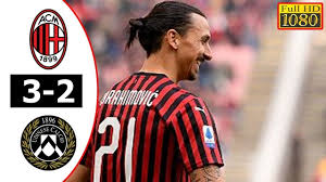 AC Milan Vs Udinese 3-2 goals and highlights - YouTube