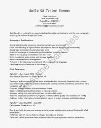 Test Administrator Resume Awesome Resume Samples Agile Qa Tester