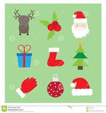 Christmas Logos Icons Banners Stock Vector Illustration Of