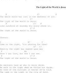 Light In The Darkness Song The Light Of The World Is Jesus Christian Gospel Song