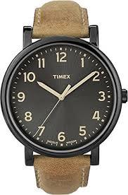 timex men s t2n677 quartz watch black dial analogue display timex men s t2n677 quartz watch black dial analogue display and brown leather strap timex originals amazon co uk watches