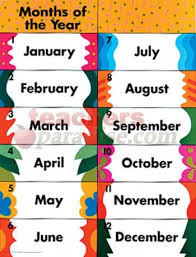 Printable Months Of The Year Chart Google Search Months