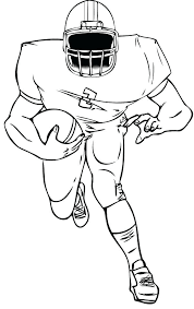 Football Player Coloring Sheets Football Coloring Page Sewing