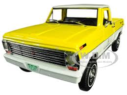 1968 Ford F-100 Pickup Truck Michelin Yellow White Running on ...