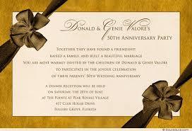 50th birthday dinner party invitations vine 50th anniversary party invitation formal golden