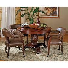 Game Table And Chairs Set Steve Silver 5 Piece Tournament Dining Game Table Set With Caster