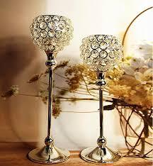 2 Pcs/lot Crystal Ball Candles Holder Birthday Christmas Xmas Decorations  Wedding Supplies Candlestick Lantern Candelabrum Home Ornaments