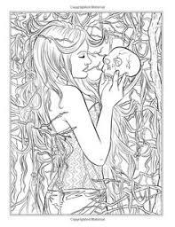 Amazing Design Ideas Coloring Pages Gothic Davidschick Info Fairies