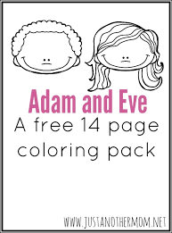 Small Picture Adam and Eve Coloring Pack