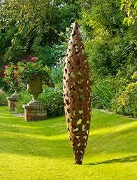 garden sculpture. Metal Garden Sculpture In Stainless Steel, Corten Steel Or Verdigris Bronze T