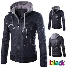 men s outdoor hooded leather jacket xs l suit jackets men leather jacket from needdd 40 21 dhgate com