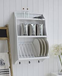 white kitchen plate rack for plates