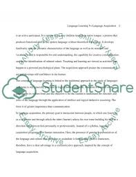 language acquisition vs language learning essay language acquisition vs language learning essay example