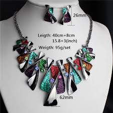 exaggerated retro rhinestonejewelry clavicle set fashion history Wedding Jewellery History exaggerated retro rhinestonejewelry clavicle set fashion history necklace&earrings funky wedding jewellery set in jewelry sets from jewelry & accessories on Beautiful Jewellery
