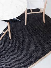 nest weave charcoal jute rug