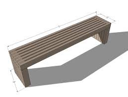 Modern Furniture Plans Ana White Build A Modern Slat Top Outdoor Wood Bench Free And