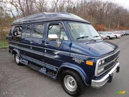 1995 Indigo Blue Metallic Chevrolet Chevy Van G20 Passenger ...