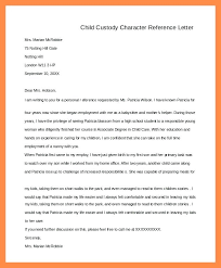10 Character Reference Letter For Child Custody Examples
