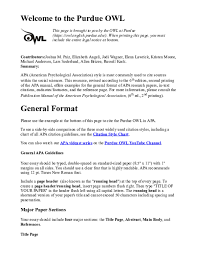 Pdf Welcome To The Purdue Owl Mariana Leister Academia Edu