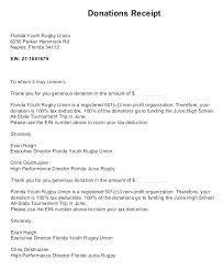 charitable contribution receipt letter receipts for charitable contributions charitable donation receipt