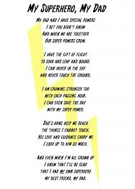 my superhero my dad poem and printable superheropoemwhite5x7copy
