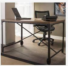 rustic wood office desk. Rustic Computer Desk Writing Industrial Home Office Furniture Wood Metal Table