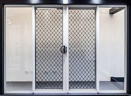 series 100 double sliding doors with security barrier doors