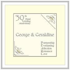 gifts for 30th wedding anniversary. 30th pearl wedding anniversary cards gifts for