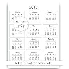 Mini Calendar Cards Instant Download Commercial Use Template