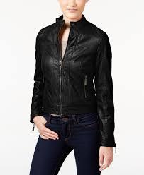 jou jou juniors faux leather er jacket faux leather jackets jou jou juniors zipper front faux leather jacket