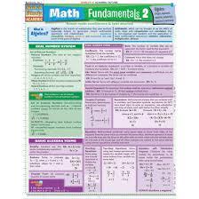 Quickstudy Bar Chart Math Fundamentals 2 Algebra