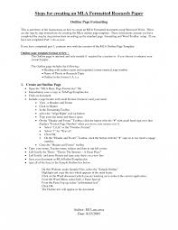 Research Per Outline Mla Essay Format Example Cover Letter Blank
