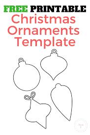 Christmas Ornaments Free Template You Can Print Manda J
