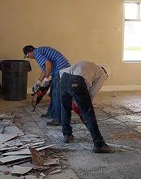 removing ceramic tiled floors on