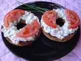 breakfast bagel  featuring tomato and garden cream cheese