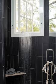 black tiled kitchen