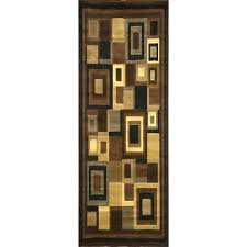 black and brown area rugs home collection transitional black beige brown area rug runner 1 red