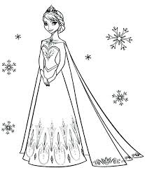 Princess Elsa Coloring Pages Simple Design And Coloring Pages Young