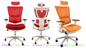 white frame office chair. Mirus Mesh Office Chair With White Frame And Hearest Enlarge H
