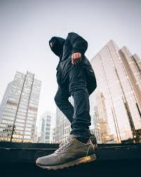 reebok classic leather black on feet