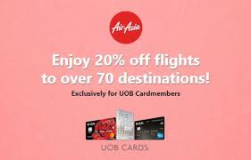 70 destinations with uob card and airasia