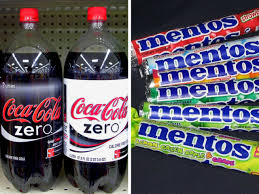 Mentos Vending Machine Cool VIDEO Man Coats Body In Mentos Enters Coke Zero Tub