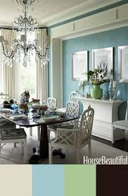light blue dining chairs. HOME INSPIRATION: Blue-and-White Dining Room. This Room Is All About Entertaining. Everything White, Including The Sideboard And Vintage Chinese Light Blue Chairs