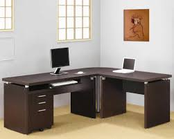 incredible office furnitureveneer modern shaped office. Furniture:Amazing Workstaton Design Feats Ikea L Shaped Desk With Veneer Top Also Metal Legs Incredible Office Furnitureveneer Modern